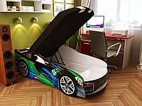 Кровать машина Спейс БМВ зеленый, фото 1