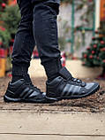 Мужские зимние кроссовки Adidas Daroga черные (копия), фото 3