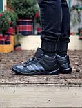Мужские зимние кроссовки Adidas Daroga черные (копия), фото 7