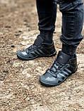Мужские зимние кроссовки Adidas Daroga черные (копия), фото 9