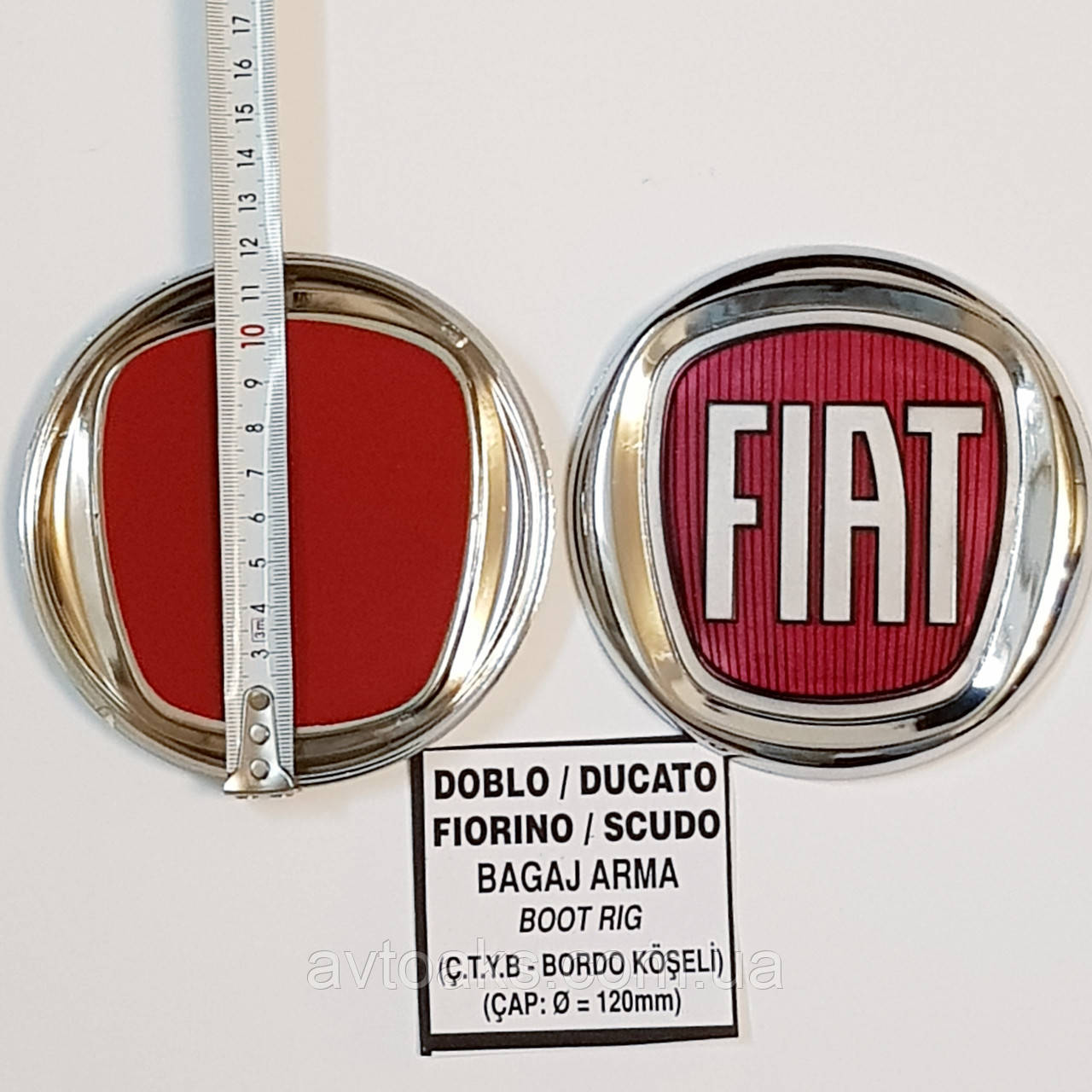 Эмблема FIAT DOBLO/DUCATO/FIORINO/SCUDO диам. 120 мм.