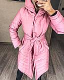 Женское демисезонное пальто куртка черное графитовое лазурное мятное розовое 42-44 46-48 50-52, фото 4