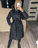 Женское демисезонное пальто куртка черное графитовое лазурное мятное розовое 42-44 46-48 50-52, фото 7