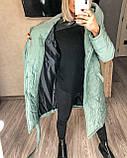 Женское демисезонное пальто куртка черное графитовое лазурное мятное розовое 42-44 46-48 50-52, фото 9