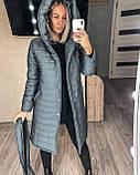 Женское демисезонное пальто куртка черное графитовое лазурное мятное розовое 42-44 46-48 50-52, фото 5