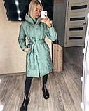Женское демисезонное пальто куртка черное графитовое лазурное мятное розовое 42-44 46-48 50-52, фото 10