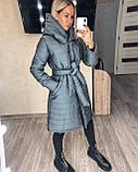 Женское демисезонное пальто куртка черное графитовое лазурное мятное розовое 42-44 46-48 50-52, фото 6
