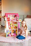 Кукольный домик для барби+лифт +2куклы в подарок.Дом для кукол барби, фото 3