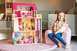 Кукольный домик для барби+лифт +2куклы в подарок.Дом для кукол барби, фото 4