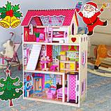 Кукольный домик для барби+лифт +2куклы в подарок.Дом для кукол барби, фото 2