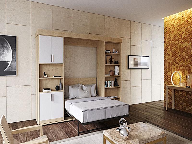 Шкаф-кровать трансформер с пеналом и полками - фото 2