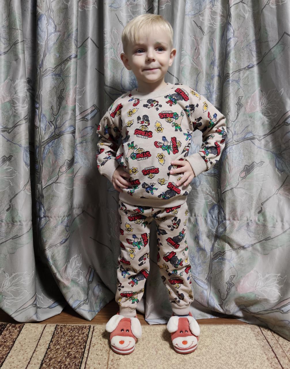 Детская теплая пижама бравл старс пижамка для мальчика Кольт Бравл Старс Brawl stars 2-10 лет