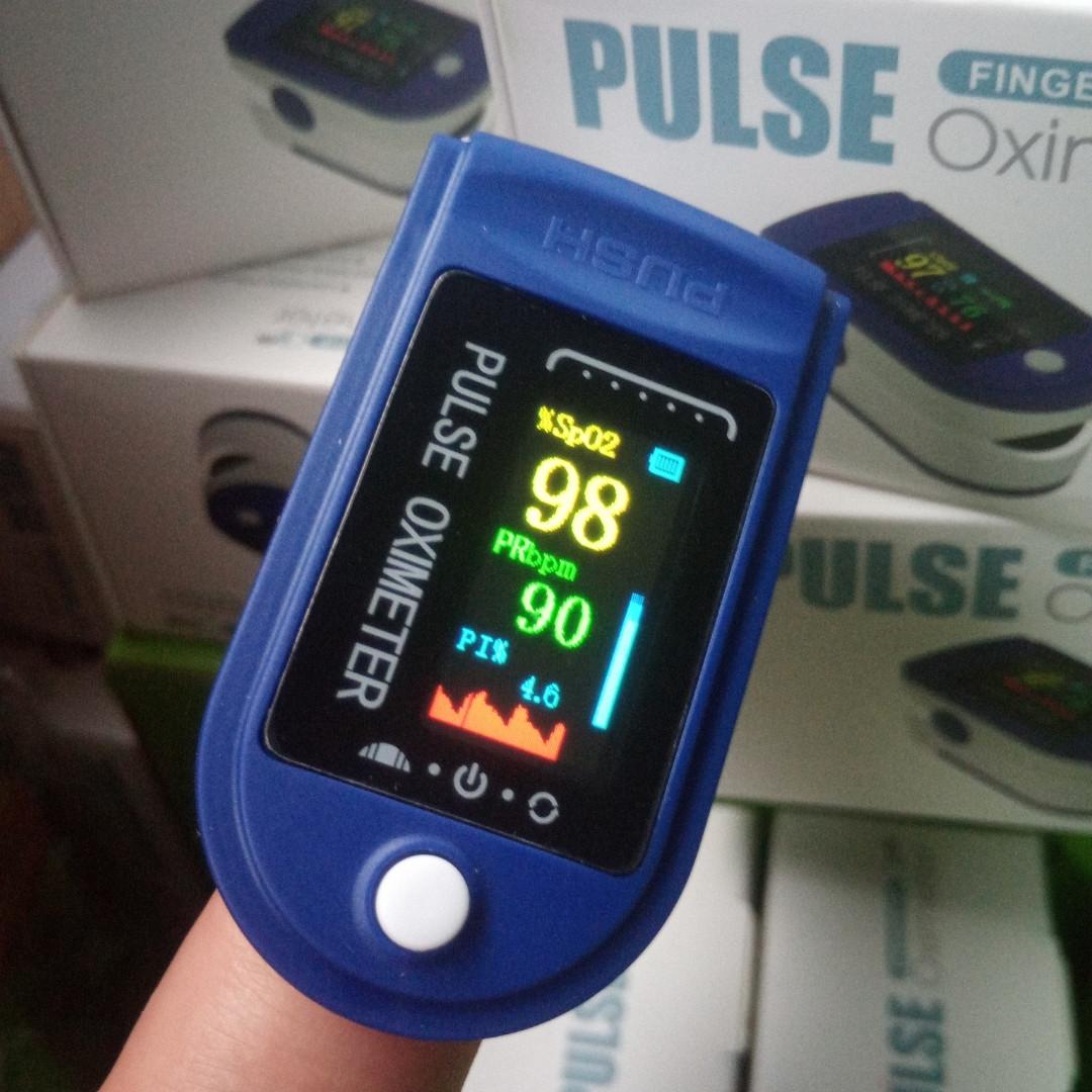 Пульсоксиметр на палець Fingertip Pulse Oximeter LED Рівень кисню . Пульсометр. Поворотний LED дисплей.