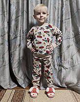 Детская теплая пижама бравл старс пижамка для мальчика Кольт бежевая Бравл Старс Brawl stars 8-9 лет, фото 3