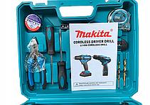 Шуруповерт Makita DF330DWE (12V-2Ah) с набором инструментов! Аккумуляторный шуруповерт Макита, фото 3