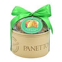 Панеттоне Premium с цукатами и изюмом Casa Rinaldi 500г (зеленый)
