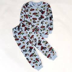 Детская теплая пижама бравл старс для мальчика Кольт голубой  Старс stars 3-4 года
