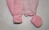 Чоловічок велюровий утеплений(на легкому сінтопоне)на новонародженого., фото 7