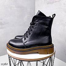 Ботинки кожа на шнурках 11380 (ЯМ), фото 2
