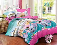 Детское постельное белье полуторное 9915 (бязь)