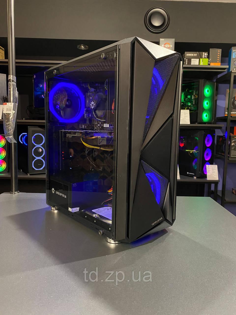 Игровой компьютер Intel Core i3-10100f + GTX 1650 SUPER 4Gb + RAM 16Gb + HDD 500gb + SSD 120Gb