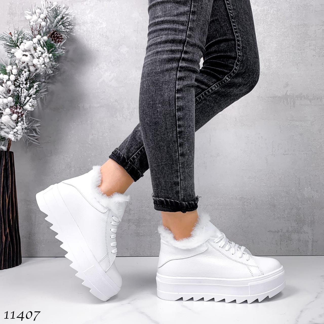 Кожаные кроссовки ботинки 11407 (ЯМ)
