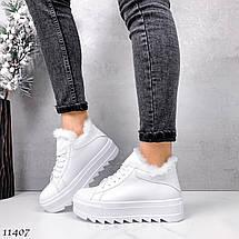 Кожаные кроссовки ботинки 11407 (ЯМ), фото 3