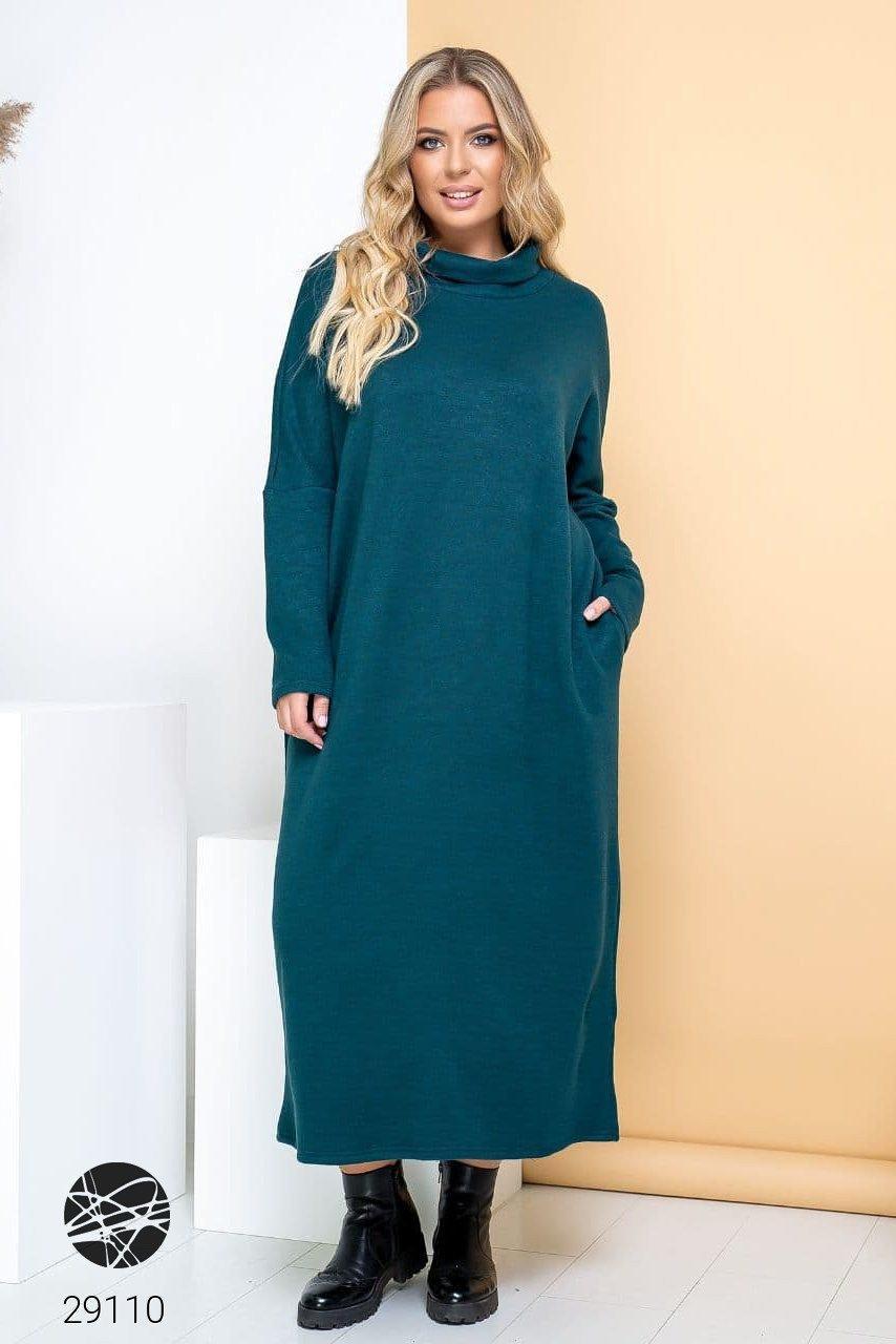 Теплое ангоровое  длинное платье