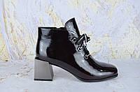 Лакированные ботинки женские на каблуке Lady Marcia