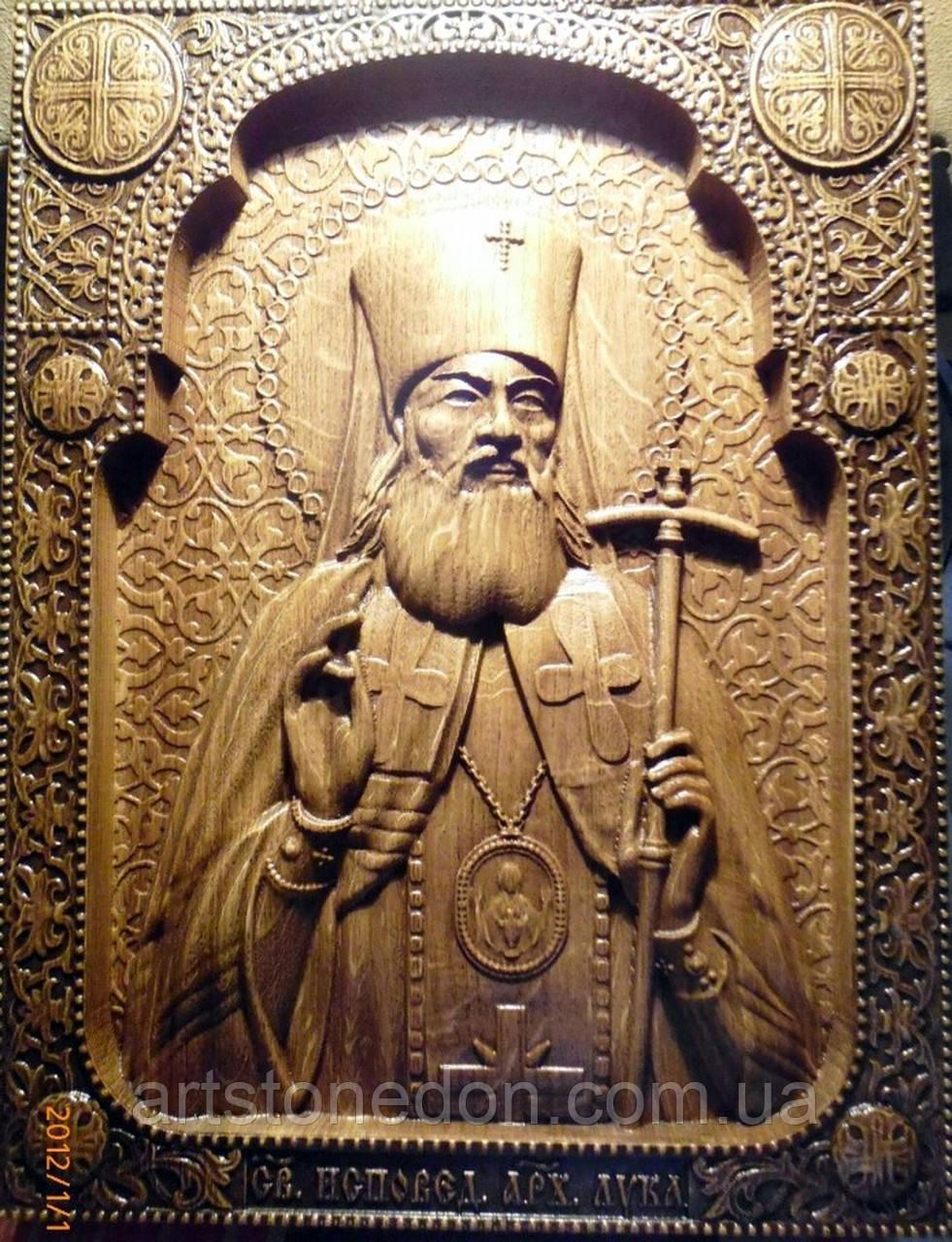 Икона резная Святого Луки