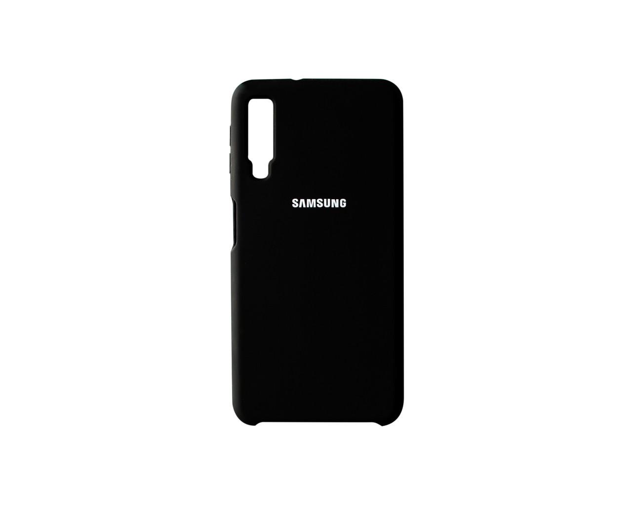 Чохол-накладка для Samsung Galaxy A7 2018 Чорний (2224)