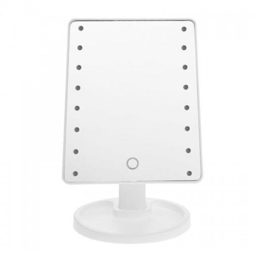 Зеркало для макияжа с LED подсветкой Large Led Mirror 16 LED Белый (jgki46646)