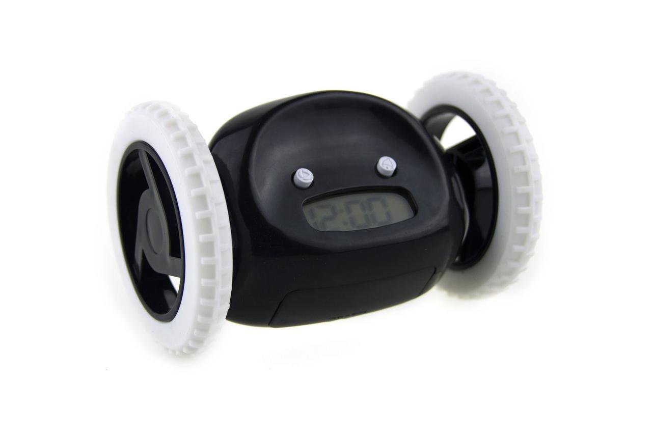 Убегающий будильник на колесиках Black (Jhkx100859)
