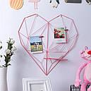 Настенный органайзер Мудборд Сердце 70 х 70 см Розовый (jfg124034), фото 2