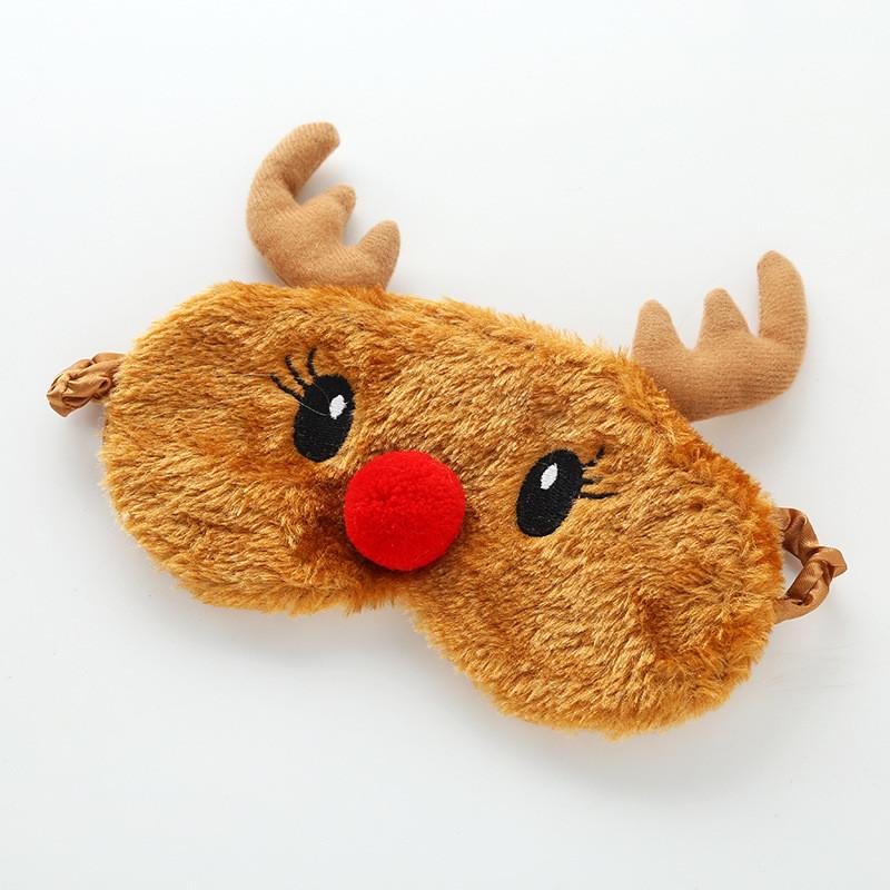 Новорічна маска для сну різдвяний олень