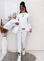 Костюм-тройка теплий жіночий з жилетом, фото 1