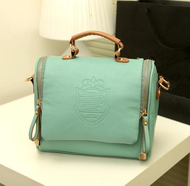 Винтажная женская сумка HGU00008 Светло-зеленый (tau_krp378_00008)