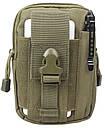Сумка на пояс штурмовая тактическая Mini Warrior VAW00239 Темно-зеленый (tau_krp237_00239ds), фото 2