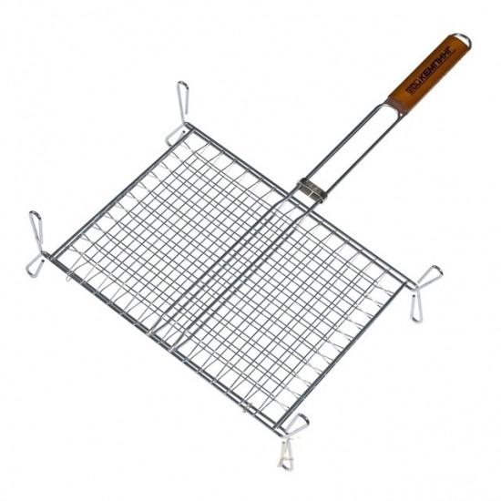 Двойная хромированная решетка с деревянной ручной (kj120143)