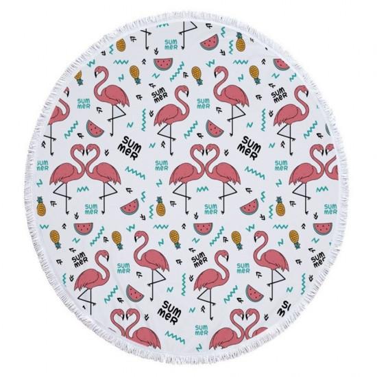 Пляжний килимок Summer Flamingo Рожевий (kj123288)