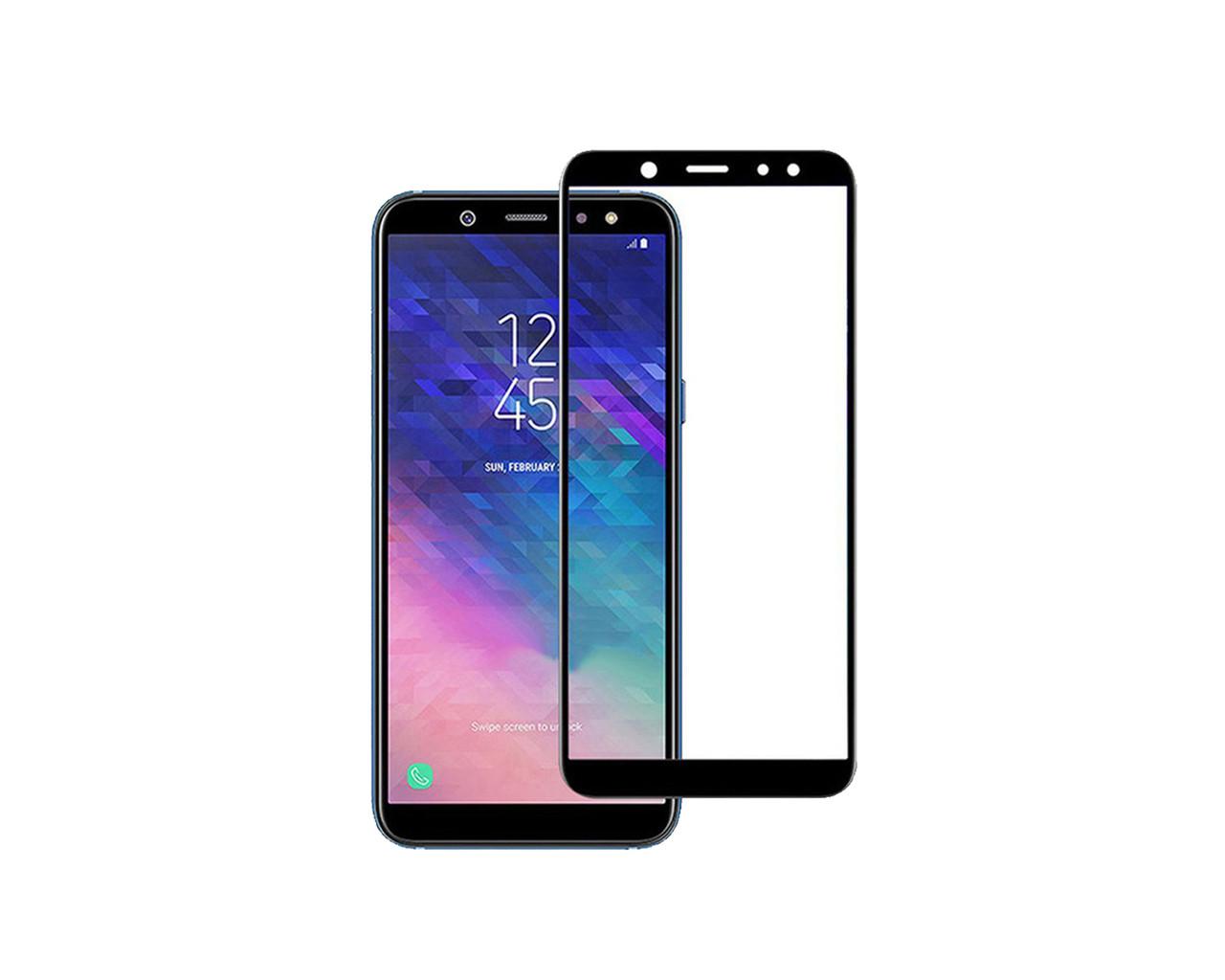 Захисне 3D скло Full Cover для Samsung J8 2018 J810 Black (1857)