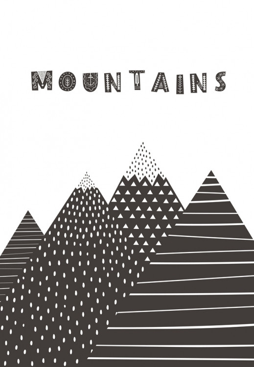 Постер в рамці Mountains 30 х 40 см (sd124123)