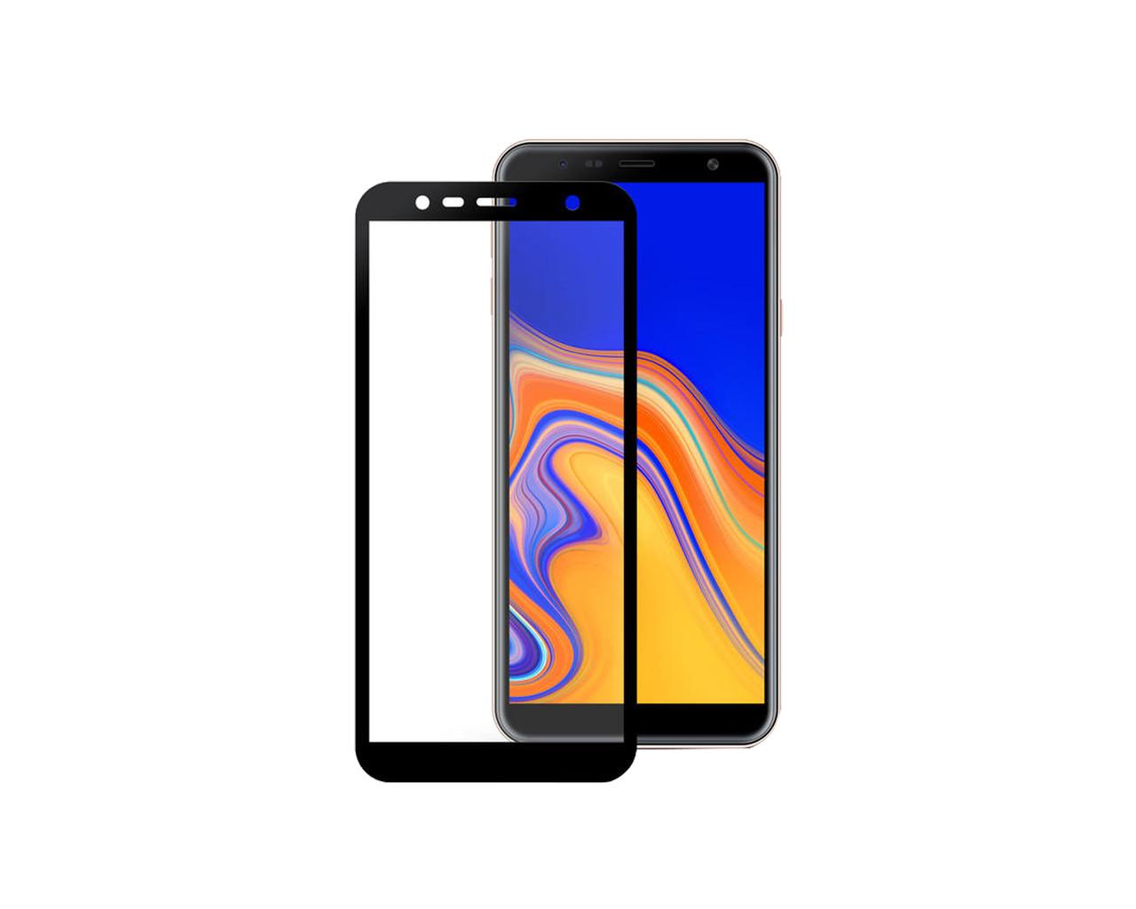 Защитное 3D стекло Full Cover для Samsung J4 Plus 2018 J415 Black (1869)
