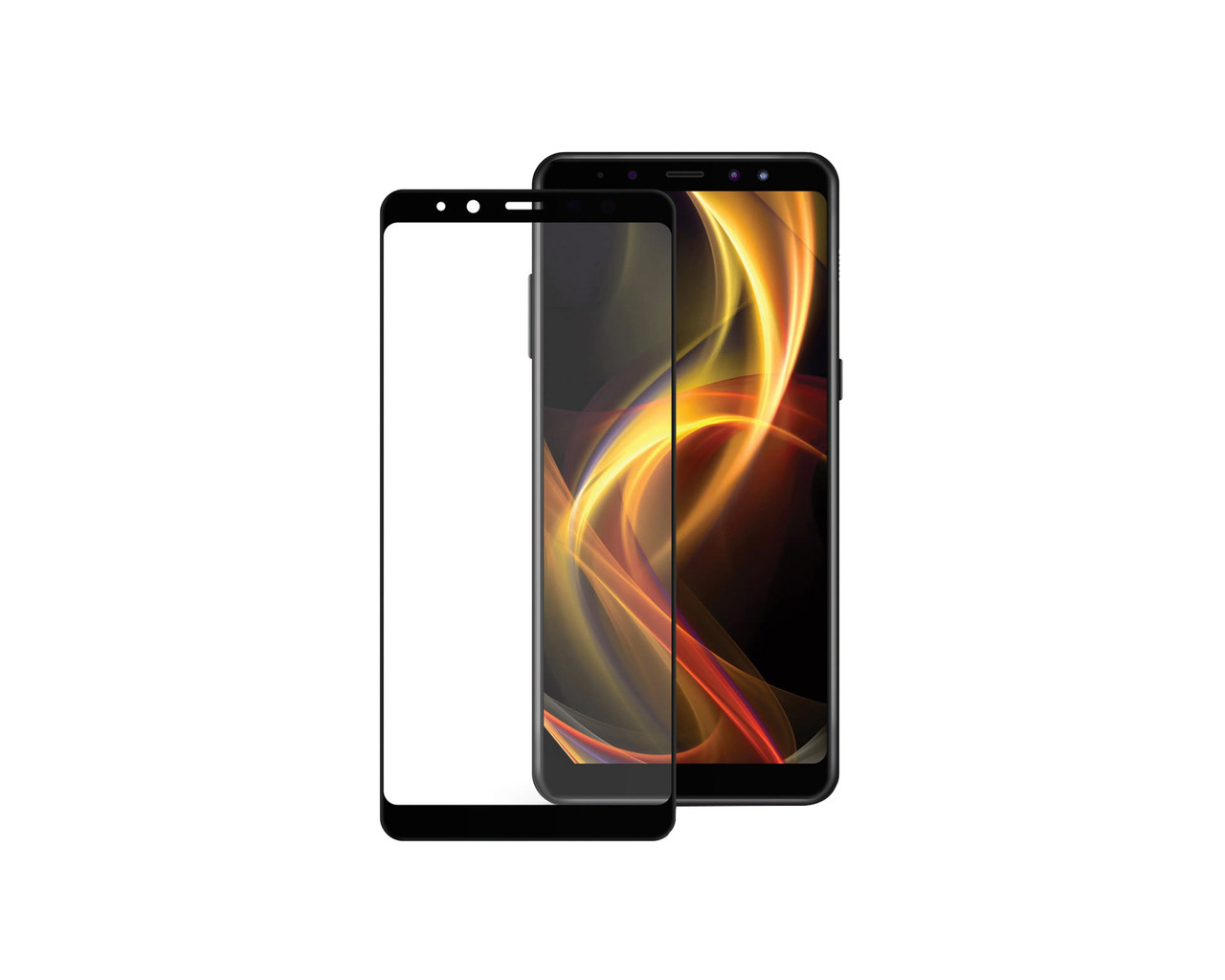 Захисне 3D скло Full Cover для Samsung A6 Plus 2018 A605 Black (1875)