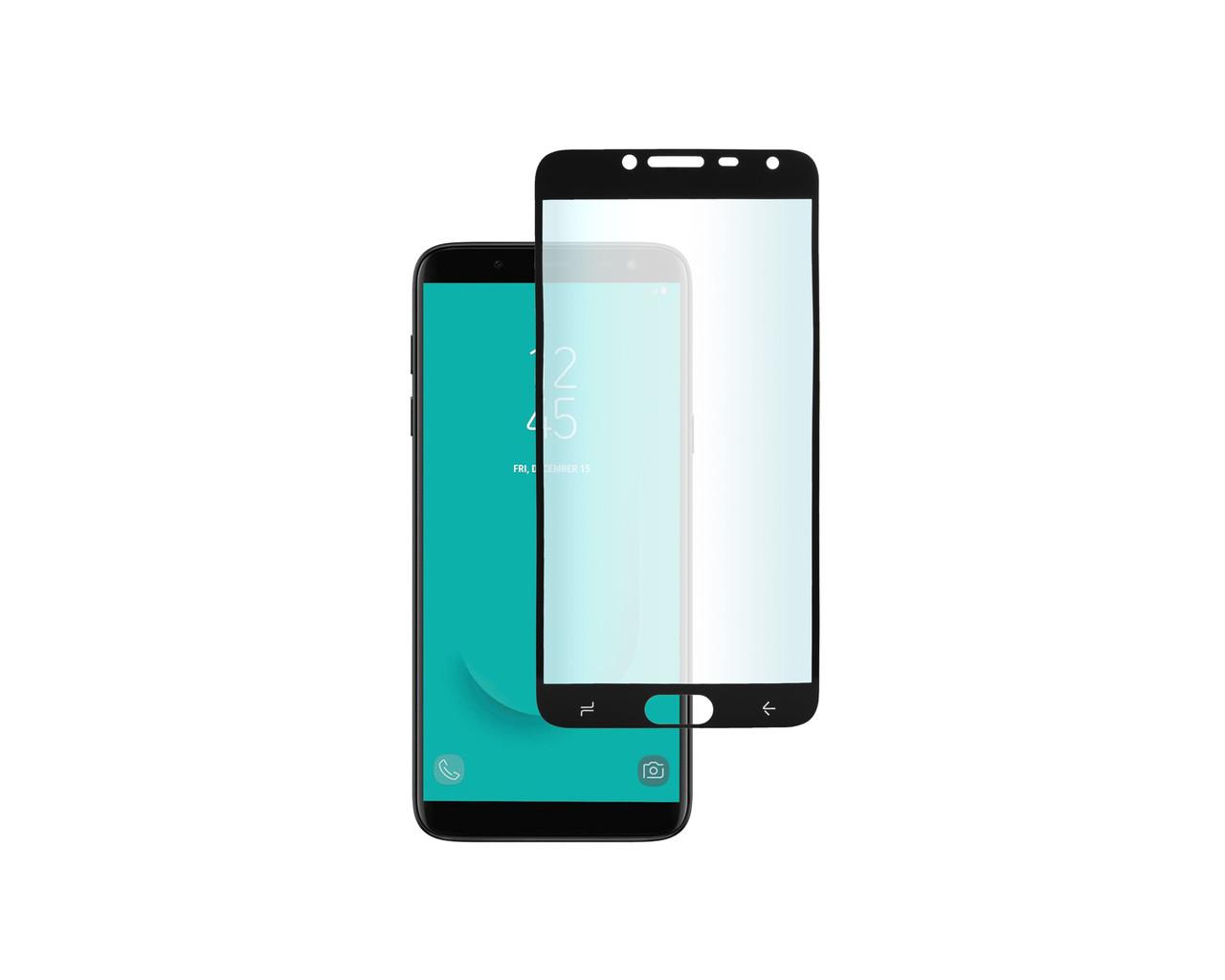 Захисне 3D скло Full Cover для Samsung A6 2018 A600 Black (1876)