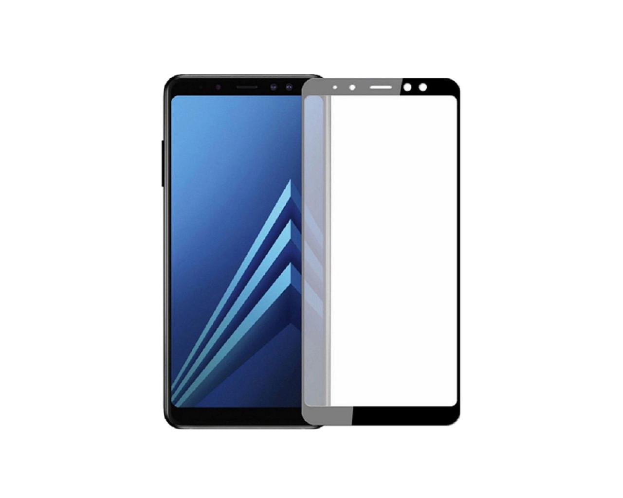Защитное 3D стекло Full Cover для Samsung A8 2018 A530 Black (1877)
