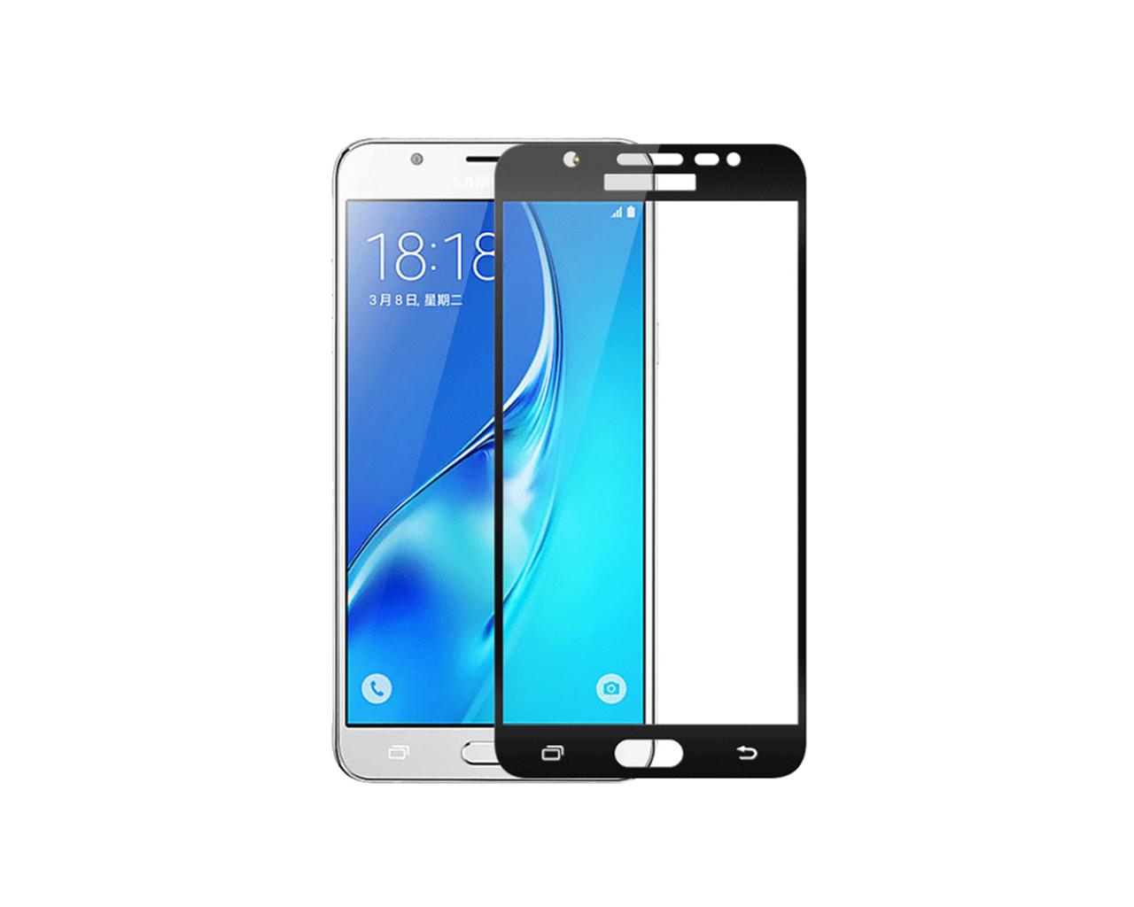 Защитное 3D стекло Full Cover для Samsung A7 2016 A710 Black (1879)
