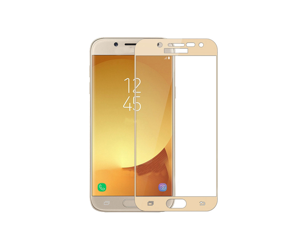 Защитное 3D стекло Full Cover для Samsung J3 2017 J330 Gold (1845)