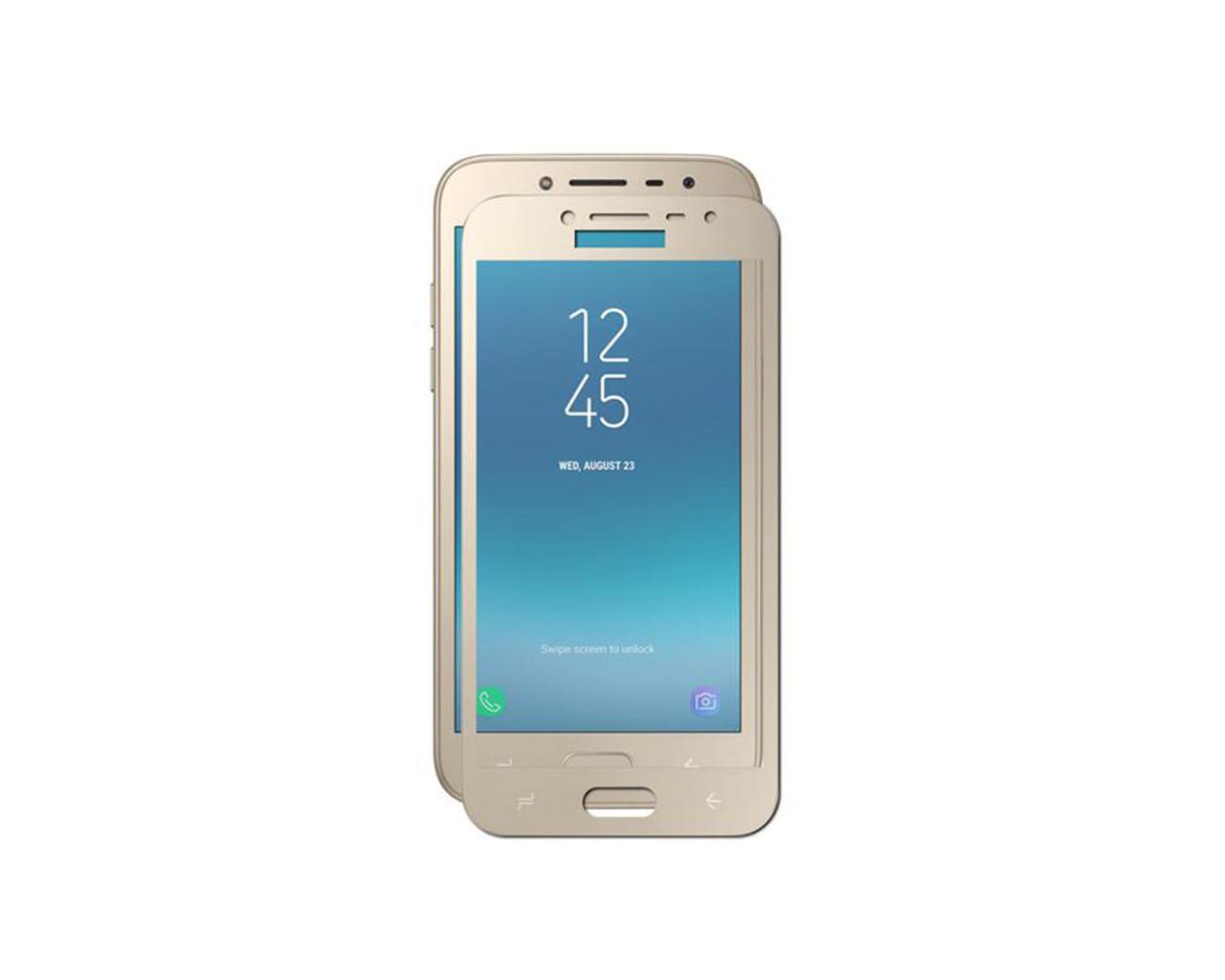 Защитное 3D стекло Full Cover для Samsung J2 Pro 2018 J250 Gold (1866)