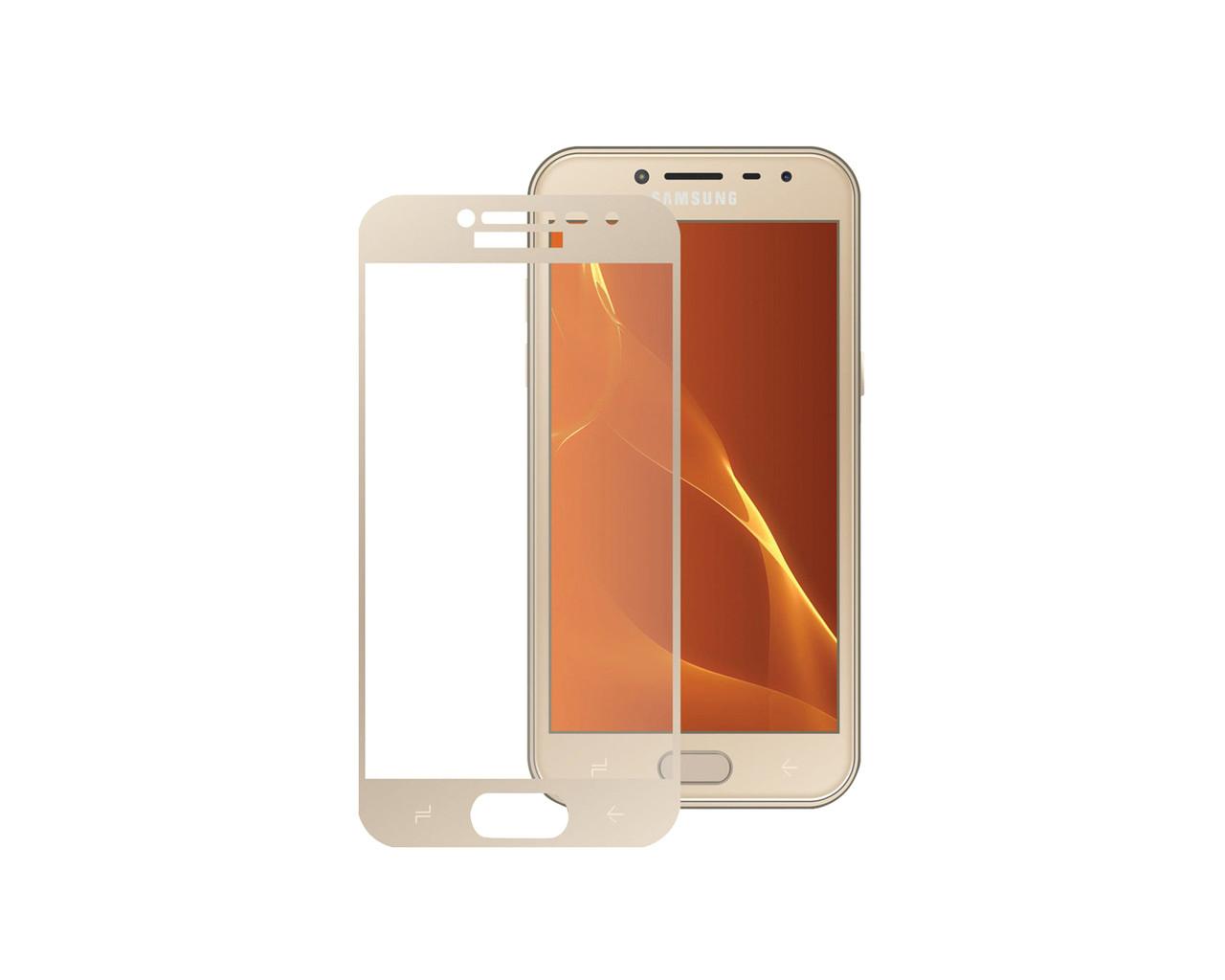 Защитное 3D стекло Full Cover для Samsung J4 2018 J400 Gold (1868)